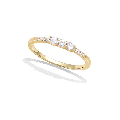 法国3微米镀金首饰 18K包金戒指 12EV0070CZ