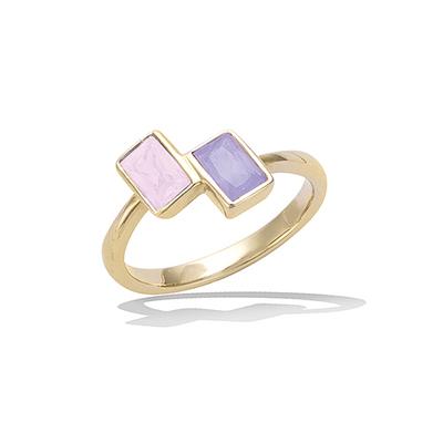 法国3微米镀金首饰 18K包金戒指 12EV0140LK