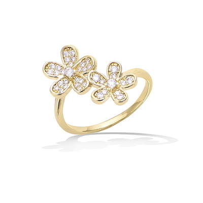 法国3微米镀金首饰 18K包金戒指 12EV0620CZ