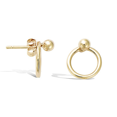3 Microns Gold Plated Earrings 22HU01010