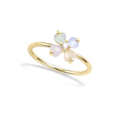 法国3微米镀金首饰 18K包金戒指 12EV0230X