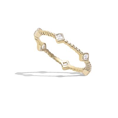 法国3微米镀金首饰 18K包金戒指 12EV0510CZ